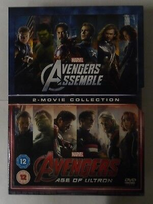 Avengers Age Of Ultron/Avengers Assemble Doublepack [DVD], NEW & SEALED K4