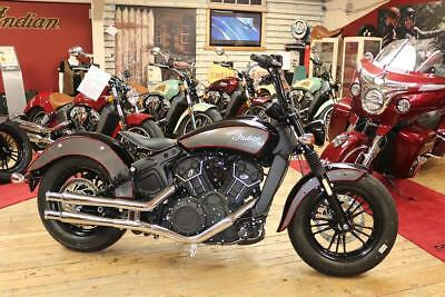 NEW 2018 Indian Scout Buckhorn Bobber custom Thunderball Black fireball red