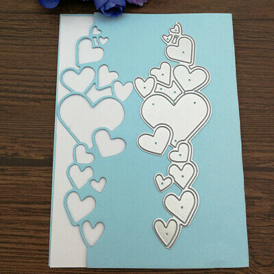 Heart Lace Edge Frame Metal Cutting Dies Stencils For DIY Scrapbooking Decor