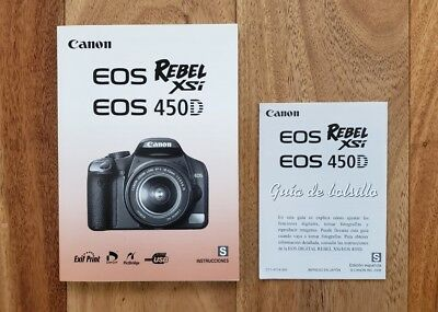 Spanish instruction manual and pocket guide for canon 40d digital.