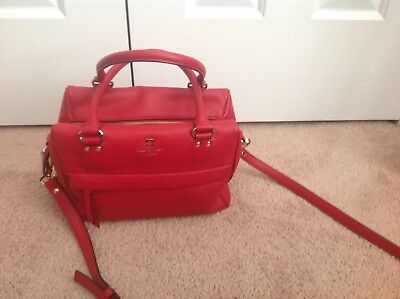 Kate Spade Red Leather Handbag With Strap Nwt 50 00 Picclick
