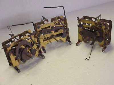 3 Incomplete Vintage 30 Hour Used Cuckoo Clock Movements parts repair I