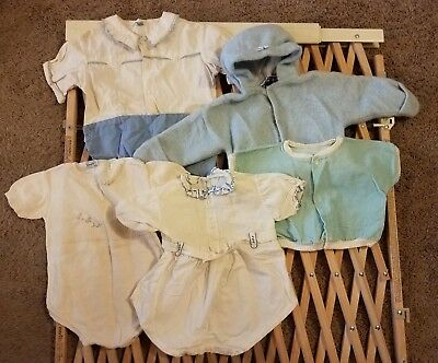 Lot of vintage antique baby infant clothing clothes 1960s 1950s 1970s
