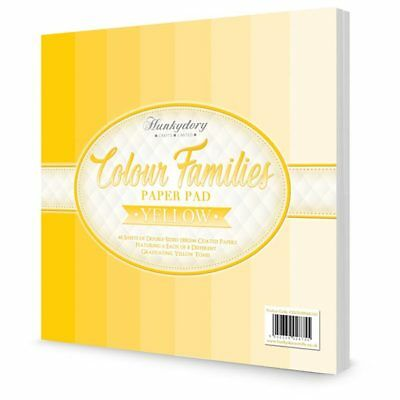 Hunkydory Paper Pad Colour Families in Yellow | 48 Sheets