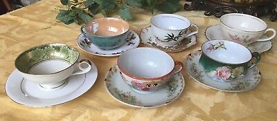 12 VTG Mixed Lot of China Floral Tea Cups & Saucers Party Bridal Shabby Chic