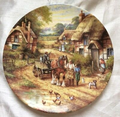 Wedgwood Collectors Plate,limitted Edition,country Days,early Morning Milk,g/con