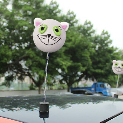 Lovely White Cat Car Antenna Topper Aerial Ball EVA Decoration Toy Small 4.5cm