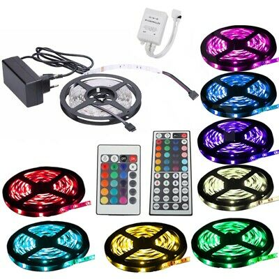 1-30m SMD5050 30-60 LED strips fairy lights RGB controller multi-colors flexible