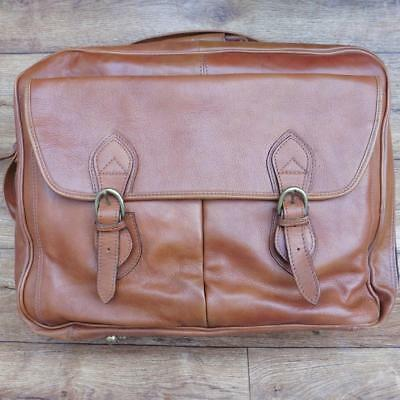 65631a95194d Hidesign Tan Leather Business Travel Overnight Bag Briefcase Computer Laptop  Bag