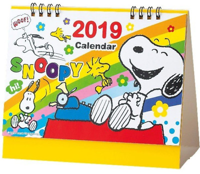2019 Calendar Snoopy Desk top type Japan import NEW