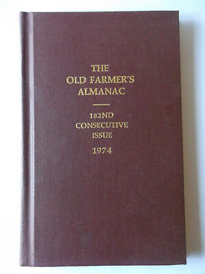 Hardcover Bound Copy - The Old Farmer's Almanac (1974, 182nd Edition)