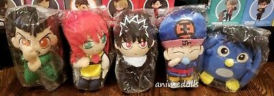 Yu Yu Hakusho SUPER RARE Plush Doll Set Yusuke Kurama Hiei Koenma Pu Authentic