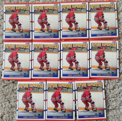 Eric Lindros Hockey Rookie Cards #440  Lot of 11 1990-91 Score NM-MT