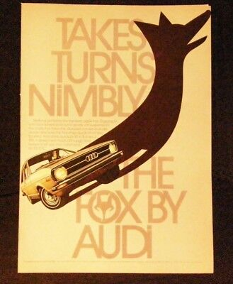 Vintage magazine ad for Fox by Audi - Takes Turns Nimbly for $3,975