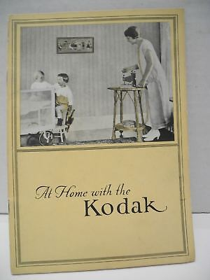 """1925 Kodak Booklet """"At Home With The Kodak"""" How To take Better Photos"""