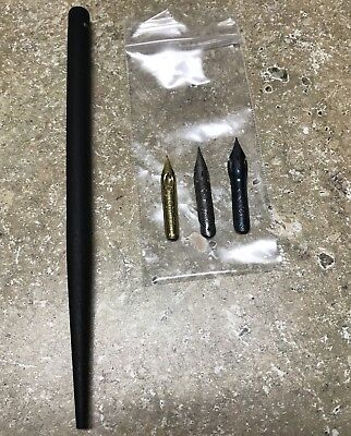 E&M Germany Nib Holder And Three Brause Nibs (cito Fein, 76, And 361)