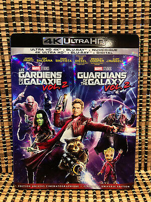 Guardians of the Galaxy Vol. 2 4K (2-Disc Blu-ray,2017)+Slipcover.Marvel Avenger