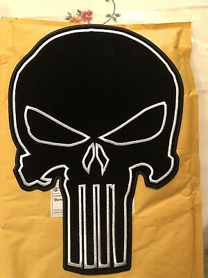 Official Marvel Comics The Punisher Skull Logo Iron on Applique Patch