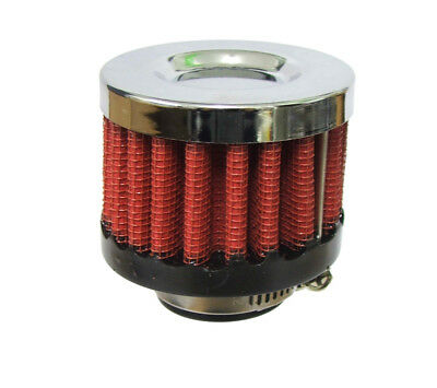 Red Cotton Performance Car Oil Air Engine Crankcase Breather Filter 20 mm Inlet
