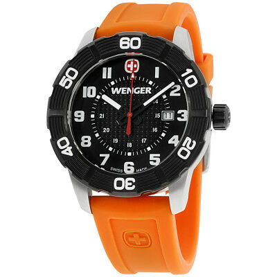 Wenger Roadster Black Dial Silicone Strap Men's Watch 0851106