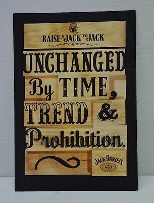 Jack Daniel's Unchanged By Time,Trend & Prohibition Brand New Collectible Card