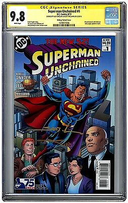Superman Unchained #1 Ordway Variant Signed by Williams & Sinclair CGC 9.8 SS 2X