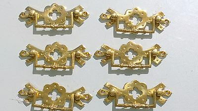 """6 heavy handles polished pull solid brass heavy old vintage style drawer 4"""""""