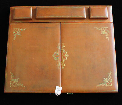 Eccolo Italian Leather Desk Pad with 2 Doors**Retailed $875