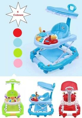 3 IN 1 WALKER/ROCKER in 4 Colours With Detachable Toys and Height Adjustment