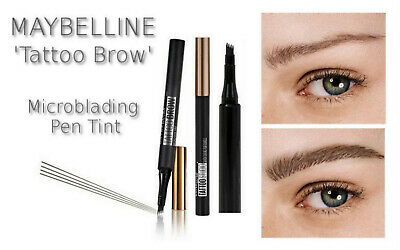 Maybelline TATTOO BROW Microblading Eyebrow Definer Micro Pen Tint Ink 3 SHADES