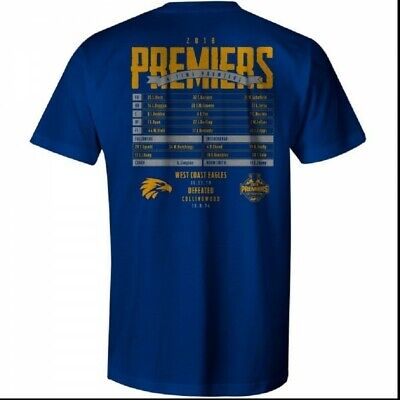 West Coast Eagles WCE Official AFL Premiership Youth T-Shirt Grand Final 2018