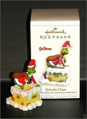 2006 Hallmark DR SEUSS THE GRINCH GRINCHY CLAUS Ornament