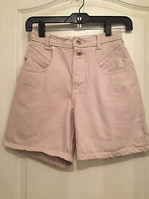 Women's VINTAGE High Waisted Shorts Pale Pink Size 7 So Cute Great Condition!!!