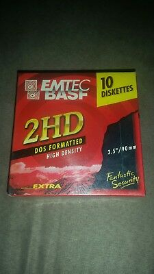 """BASF 2HD Diskettes - Brand New Sealed in Box 3.5"""""""