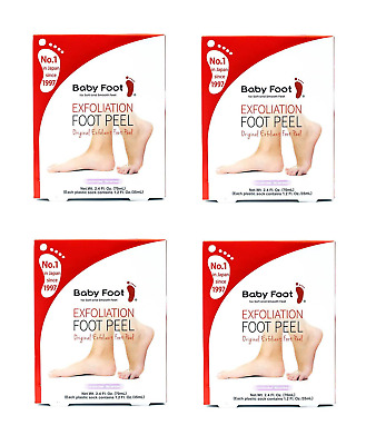Baby Foot Original Exfoliant Foot Peel x4