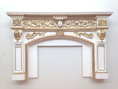 fireplace mantel 1/12 scale by CMD unpainted resin.
