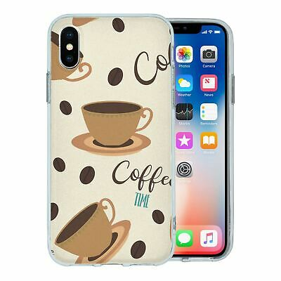 For Apple iPhone XS Silicone Case Trending Coffee Time - S1111