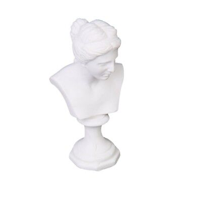 Dollhouse Miniature Resin Statue Venus Bust Sculpture White C6S8