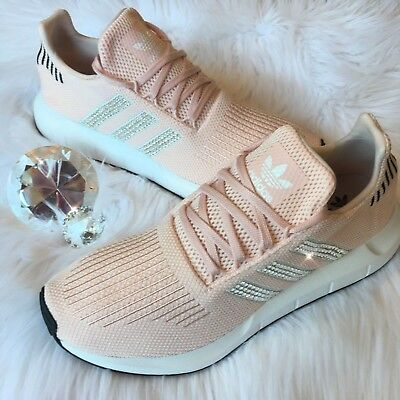 38af83fd0d363 BLING ADIDAS SWIFT Run Women's Shoes w/ Swarovski Crystals - Icey Pink  Bedazzled