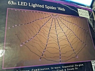 "63""  Purple LED Spider Web Light New Halloween 8 Light Settings indoor/outdoor"
