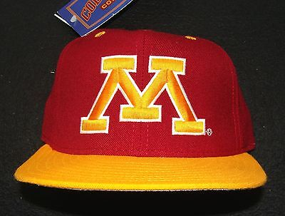 1990s MINNESOTA GOPHERS VINTAGE NEW ERA 100% WOOL 5950 PRO MODEL FITTED CAP