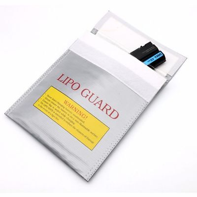 3 Size RC LiPo Battery Safety Bag Safe Guard Charge Fireproof Sack Silver UK New