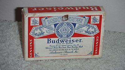 Genuine Budweiser playing card deck used Advertising collectible