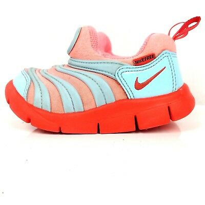 best service 6d2b4 508e8 Nike Dynamo Free Toddler Boy Girl Shoe Size 6 Lava Baby Blue Athletic Infant  6C