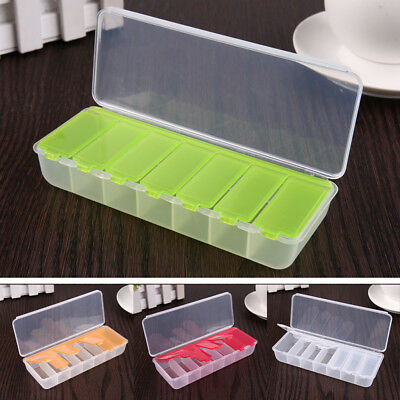 Large Travel Pill Cases Portable 7-Day Compartment Medicine Box Tablet Dispenser