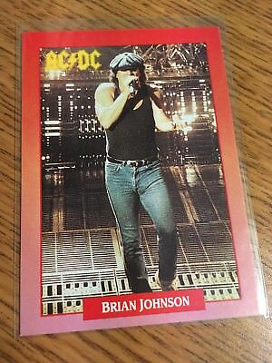 Brockum 1991 Rockcards Brian Johnson Of Ac-Dc Card 112 Excellent