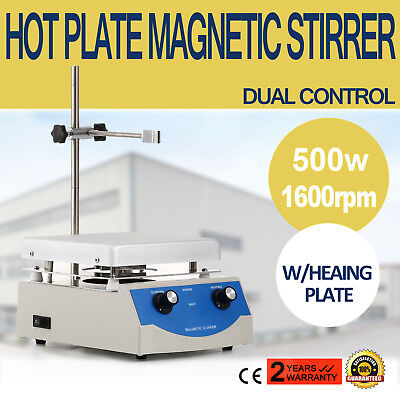 SH-3 Hot Plate Magnetic Stirrer Mixer Stirring 500w 60Hz Digital Display 1600rpm