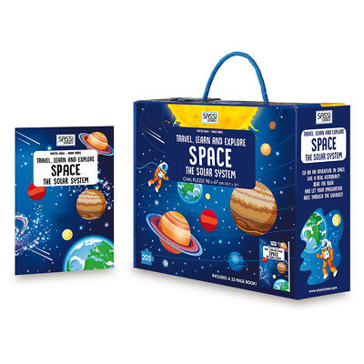 NEW Sassi Travel Learn & Explore Space Oval Puzzle