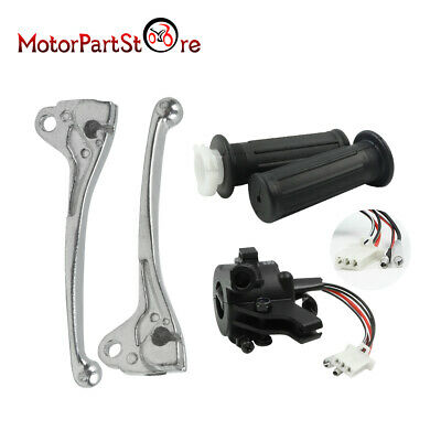 Twist Throttle Hand Grips Switch L+R Brake Lever for Yamaha PW50