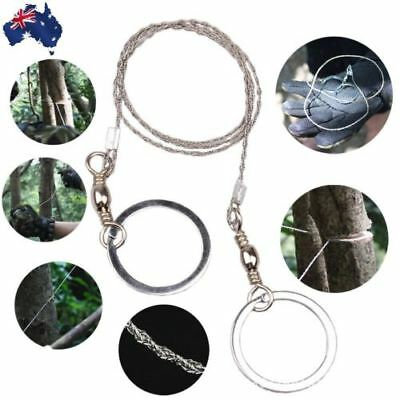 Stainless Steel Wire Camping Hiking Saw Rope Outdoor Survival Emergency Tool AU